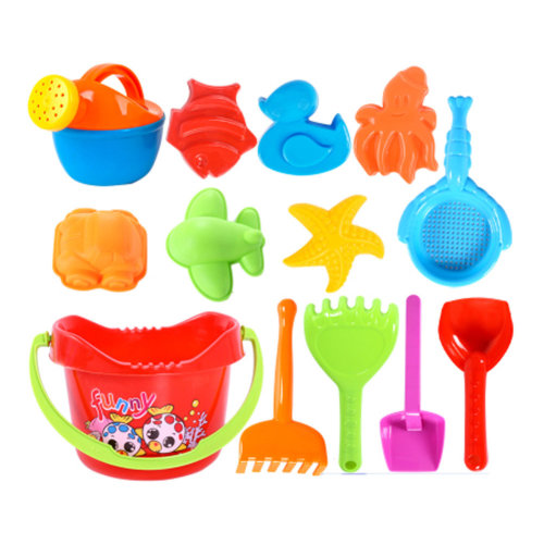 Summer Fun 13 Pieces Beach Sand Kid's Toy Beach Tool Playse (Colors May  Vary) B