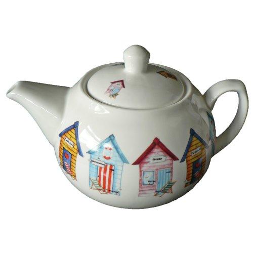 Beach hut 6 cup ceramic teapot