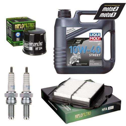 Service Kit Suzuki SV1000 & S 03-05 Oil & Air filter Oil spark plug