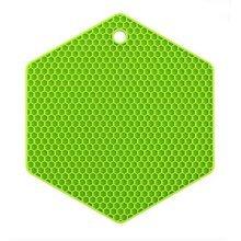 Set of 3 Creative Honeycomb Pot Holders Green Nonslip Insulation Mats Pads