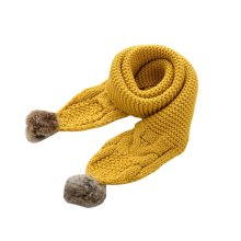 Soft Comfortable Winter Scarf Knitted Kids Neck Warmer-Yellow
