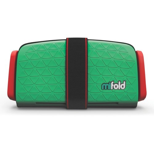 (Lime Green) mifold Grab-And-Go Booster Cushion | Compact Booster Seat