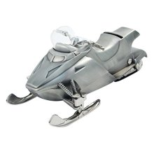 Elegance Pewter Plated Snow Mobile Bank