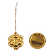 [Gold Flower] Creative Spice/Tea Ball Strainer Tea Filter With Drip Trays
