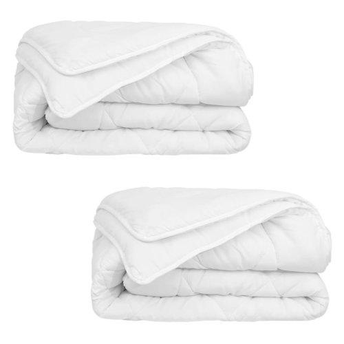 vidaXL 4 Seasons Duvet/Quilt 2 pcs 140x200 cm White