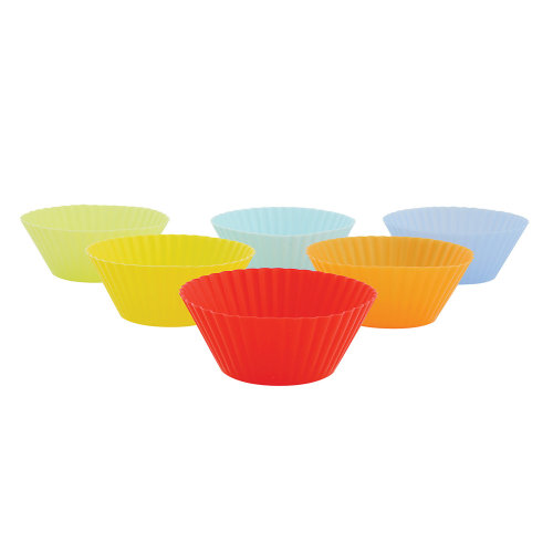 Faringdon Silicone Muffin Cups, pack of 6, assorted colours