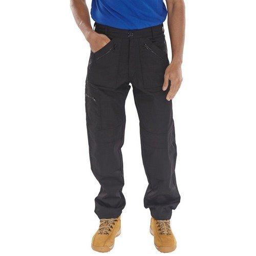 "Click AWTBL30 Action Work Trousers Black 30"" Regular"