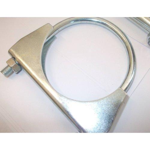 "Universal Exhaust U Clamp Bolt Heavy Duty TV aerial Pipe Hose 60 mm (2 3/8"") x 5"
