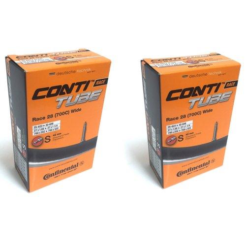 Continental Race 28 700 x 25-32c Bike Inner Tubes - Presta 42mm Long Valve (Pair)