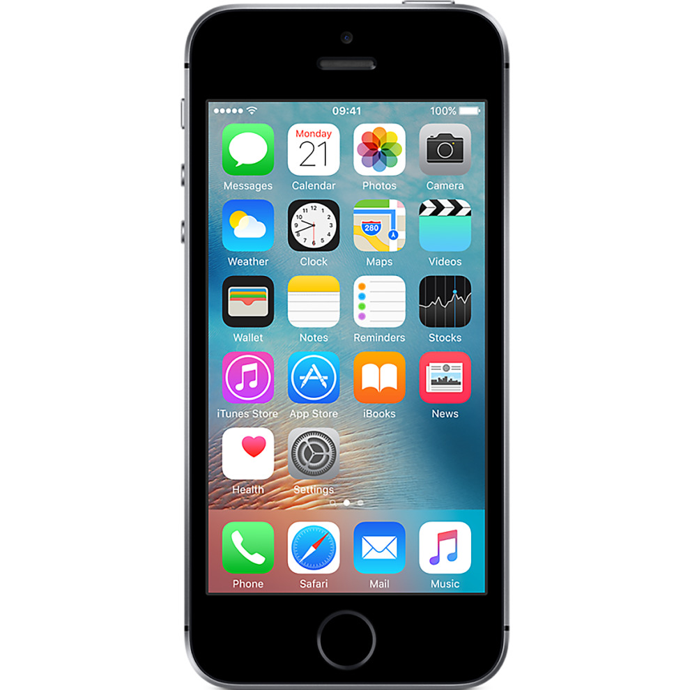 Three, 64GB Apple iPhone SE - Space Grey