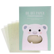 [Bear Green] 3 Sets Unisex Facial Oil Blotting Papers Oil Control Papers