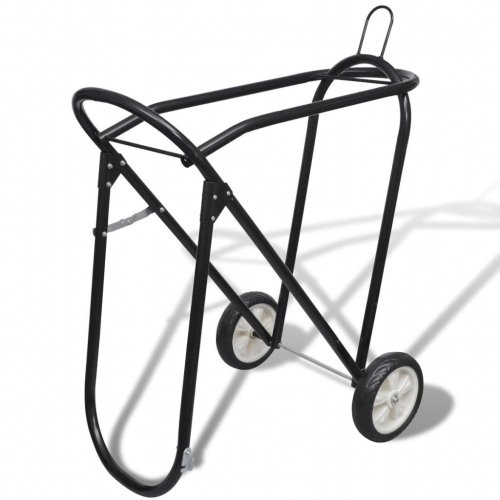 Metal Foldable Saddle Rack with Wheels