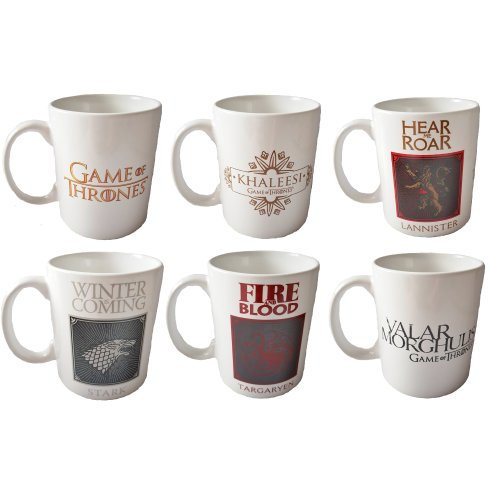 Game of Thrones Mugs GoT Officially Licensed Birthday Christmas Gift Cup Boxed