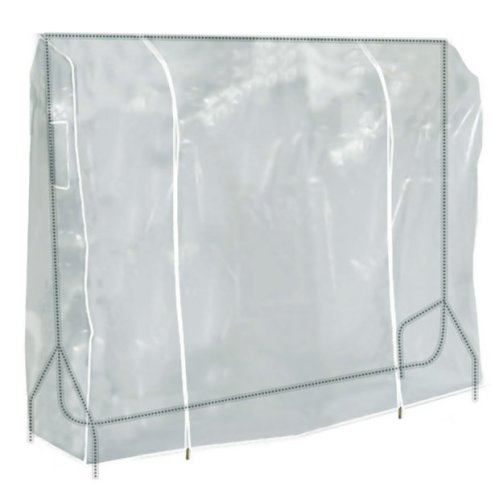 Hangerworld 6ft Clear Zipped Clothes Rail Cover Hanging Storage