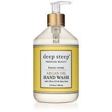 Deep Steep Argan Oil Liquid Hand Wash, 17.6 Ounce (Lemon Cream)