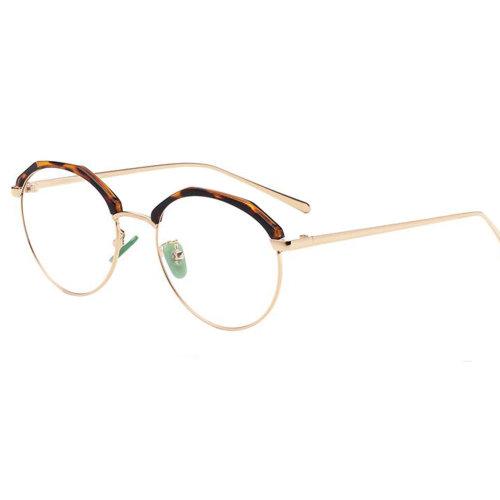 Personality Polygon Flat Glasses Retro Decorative Glasses Frames -Leopard