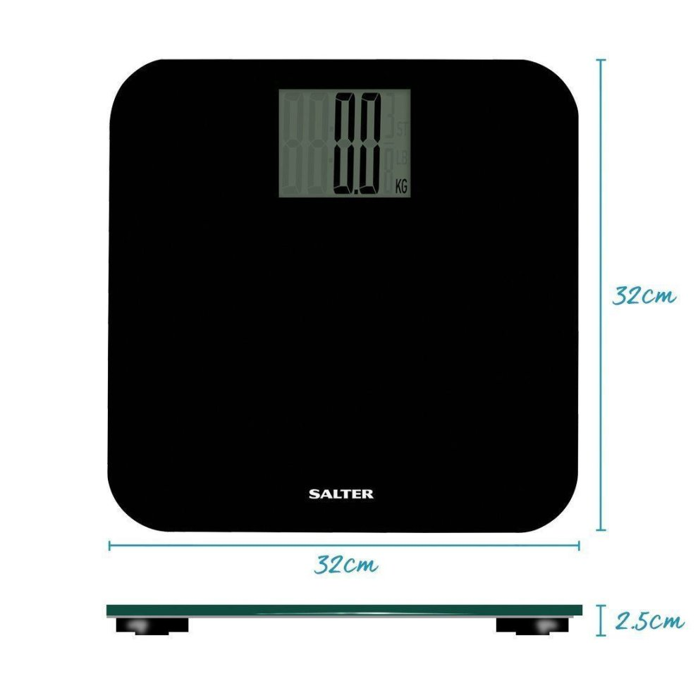 Salter Electronic Curved Edge Bathroom Scales Digital 4