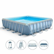 Intex 28764 Prism Frame Above Ground Pool Square 427x427cm
