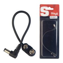 Stagg SPS-9VBAT-L 15cm 9V Battery to Right-Angled DC Power Cable