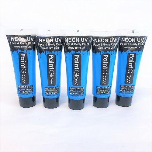 5pc Neon UV Face And Body Paint Intense Blue