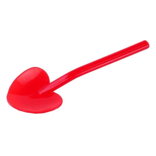 Disposable Plastic Heart Shape Spoons for Ice Cream Spoons Red?100 Count?