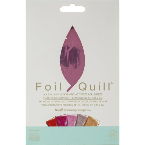 """We R Memory Keepers Foil Quill Foil Sheets 4""""X6"""" 30/Pkg-Flamingo"""