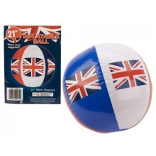 21 Union Jack Infl Football With Printed Insert - Union Football Jack Infl -  union football 21 jack infl printed insert inflatable