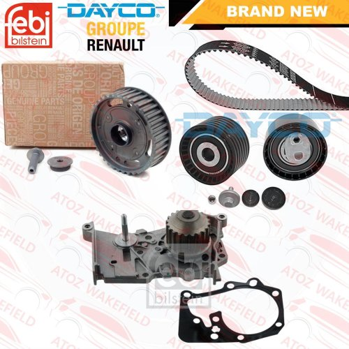 RENAULT CLIO FLUENCE 1.6 16V OE DEPHASER PULLEY TIMING CAM BELT KIT WATER PUMP