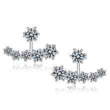 Alana Crystals Jacket Earrings | Crystal Stud Cuff Earrings