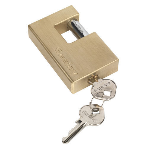 Sealey PL209 76mm Brass Shutter Padlock
