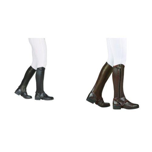 Dublin Evolution Adults Side Zip Leather Half Chaps