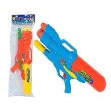"Wild N Wet 19"" Pump Action Triple Squirt Water Cannon - Blue Or Orange (blue & -  1 x 19 summer pump action triple squirt childrens water gun toy"