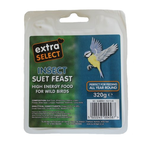 Extra Select Wild Bird High Energy Suet Block Seed and Insect 320gm 6 Pack