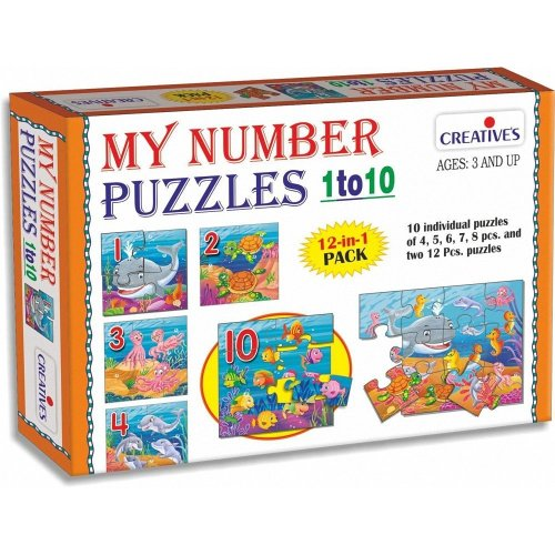 My Number Puzzles 1 To 10 - Cre0792 Creative -  puzzles cre0792 creative my number 1 10