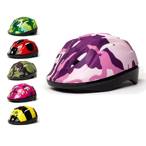 3Style Scooters® - Kids Cycle Helmet In Pink Camouflage Design - For Cycling, Skating, Scooting - Adjustable Headband 53cm 54cm & 55cm - Vented...