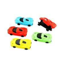 10 Pieces Of Fashion Cute Cartoon Erasers Cars Modeling