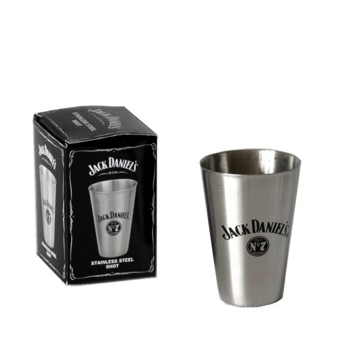 JACK DANIEL'S TALL METAL SHOT GLASS OFFICIALLY LICENSED 8474JD