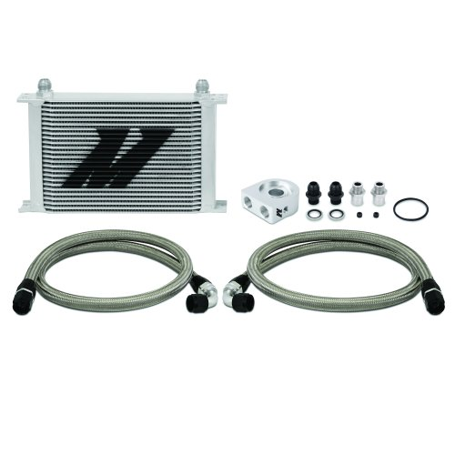 Mishimoto MMOC-UH Universal Oil Cooler Kit, 25-Row, Silver