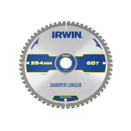 Irwin 1897429 Construction Circular Saw Blade For Wood 254mm 60 Teeth