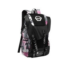 Fashion School Laptop Backpack Lightweight Travel Backpack,scrawl red