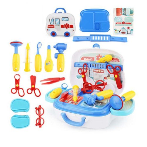 Portable toy Medical Care Box for Children Kids Christmas Present 15 PCS