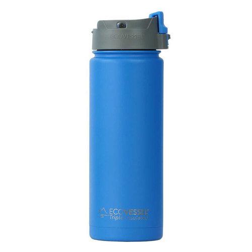 Ecovessel Perk 600ml Hot Cold Drinks Coffee & Tea Travel Mug Hudson Blue