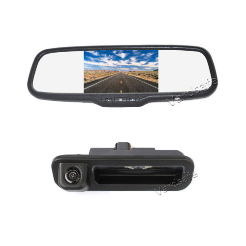 Vardsafe Reverse Backup Camera + 5 inch Clip-on Rear View Mirror Monitor for Ford Focus 2012 2013 2014