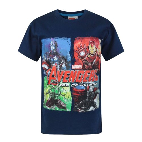 Official | MARVEL AVENGERS | Youth Kids Avenger T-Shirt | Hero tshirt | Age 3-4
