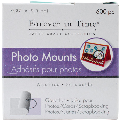 """MultiCraft Photo Mounts .37"""" 600/Pkg-Clear, Double-Sided"""