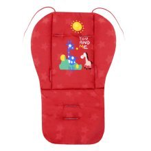 Cut Breathable Thicken Baby Strollers Mat Stroller Seat Liners -Red Deer