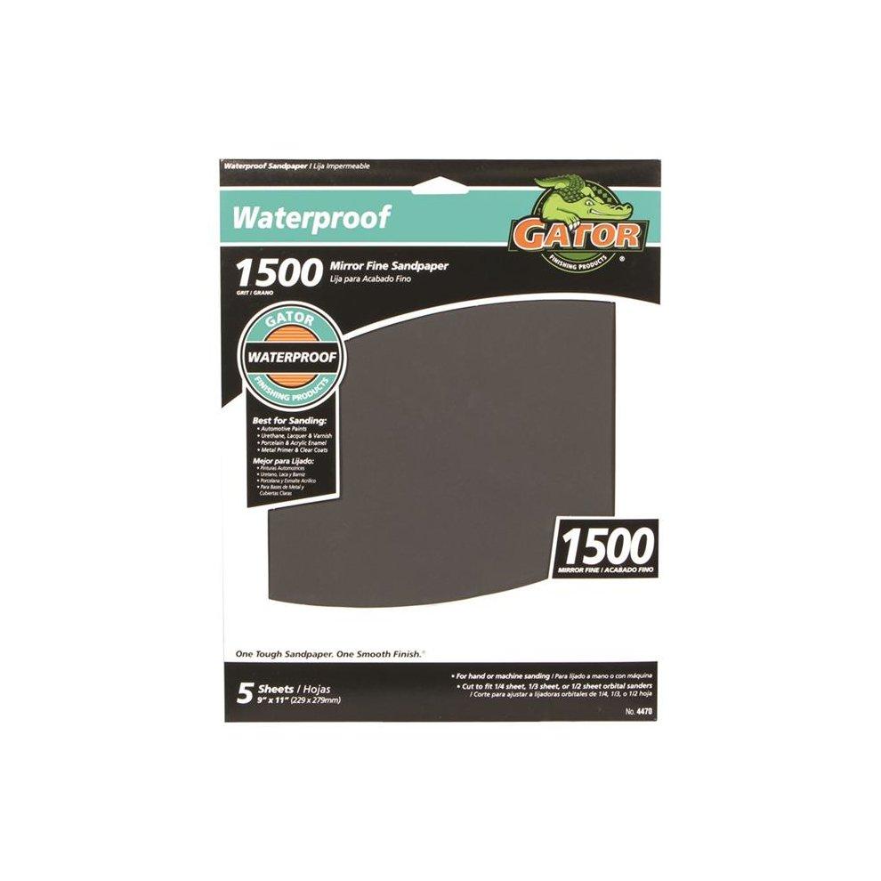 """NEW GATOR Silicon Carbide Sandpaper 11/"""" 180-Grit Fine 25-Count  3284"""