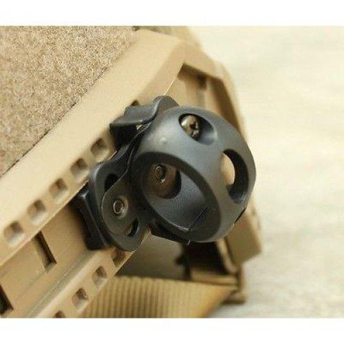 Airsoft Af Ops Core Helmet Torch Mount Black Swat For 20Mm Rail