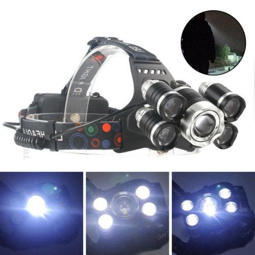 35000LM 5xCREE XM-L T6 LED Headlamp Headlight Flashlight Head lamp