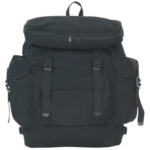 Fox Outdoor Products European Rucksack, Black, 15 x 6-Inch